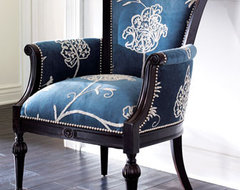 Crewel Blue Chair traditional chairs