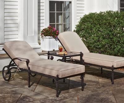 Grand Terrace Chaise Lounge - traditional - outdoor chaise lounges ...