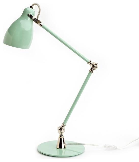 Metal Task Lamp Seafoam Green Contemporary Desk Lamps