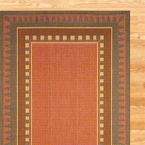 Border Terracotta Indoor Outdoor Rug