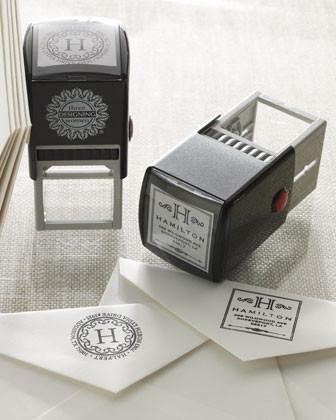 Three Designing Women Personal Stamper traditional-desk-accessories
