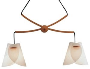 Domus Iris Twin Pendant by Justice Design  pendant lighting
