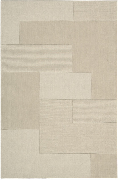 "Bowery Grid 2'6"" x 4' Bone Rug contemporary-rugs"