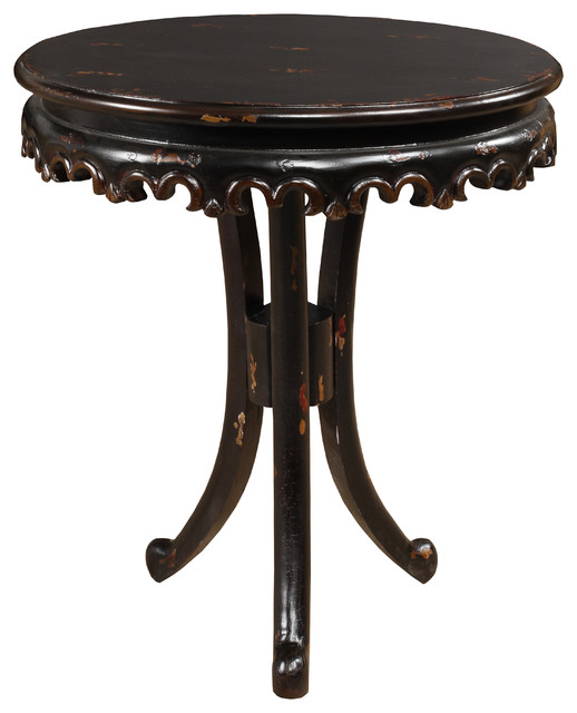 Bristol Round Pedestal End Table Side Tables And End