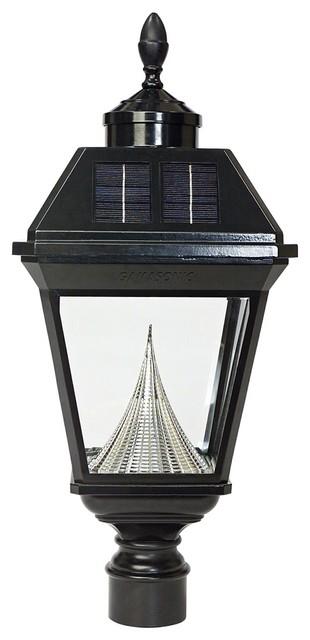 Traditional Imperial Solar 6000k 4w Led Black Post Light