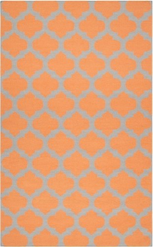 Frontier Moroccan Orange Hand Woven Wool Rug contemporary rugs