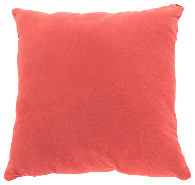 Modern Red Decorative Pillows : Linen Pillow, Red - Contemporary - Decorative Pillows - other metro - by Zentique, Inc.