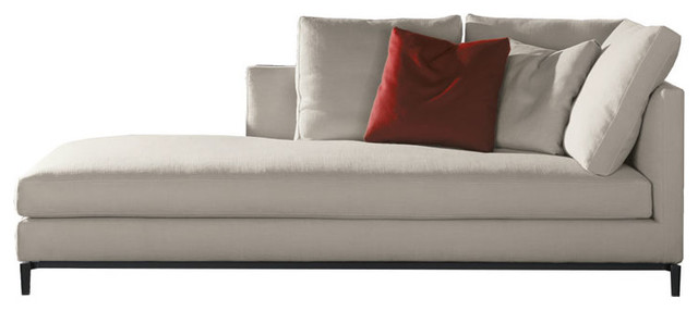 Minotti andersen slim chaise lounge modern for Andersen leather chaise sectional