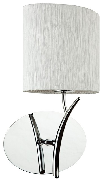 "Contemporary Artcraft Sloan 13 1/2"" High Silk and Chrome Wall Sconce contemporary-wall-lighting"