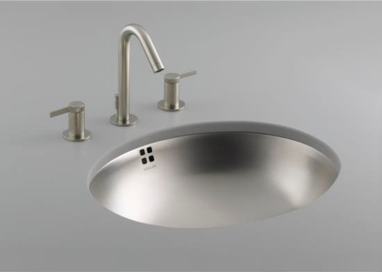 Stainless Steel Sink In Bathroom : ... Stainless Steel Bathroom Sink with Overflow contemporary-bath-products