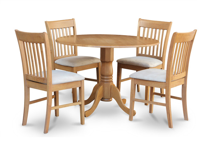 5 piece small kitchen table set round kitchen table and 4 for Small kitchen table sets for 4