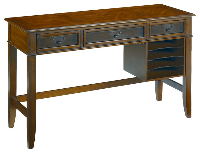 hammary mercantile desk in whiskey traditional desks