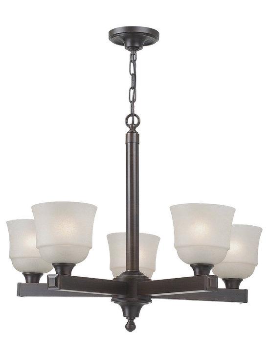 Royce Lighting - Brighton Collection Five Light Energy Star Chandelier - Product Description:-