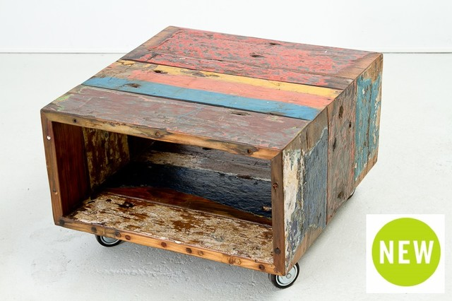Cahaya Caster Coffee Table Small Rustic Coffee Tables Toronto