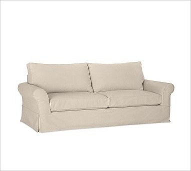 PB Comfort Roll-Arm Grand Sofa with Box Cushion Slipcover, everydaysuede(TM) Sto traditional-chairs