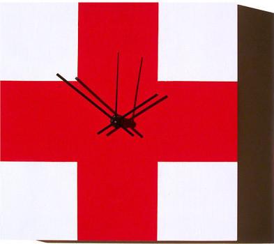 Red Cross Clock by Hubler Furniture Co. modern-clocks