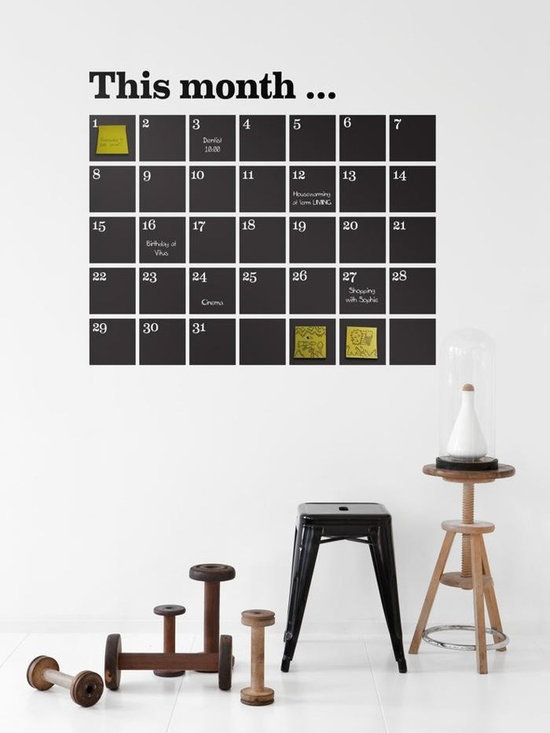 Ferm Living Calender WallSticker - With Ferm Living WallStickers it is easy to create a new look and change the style in a room in a matter of minutes. By using WallStickers, your kids can also help decorate their own room in an array of colors.