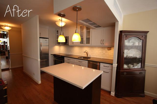 Small Gold Coast Condo Kitchen Remodel contemporary-kitchen