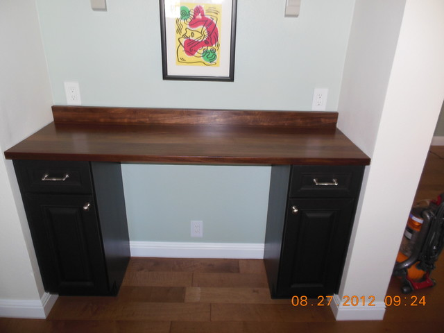 Countertop Desk : AFTER - Custom Desk with Wood Countertop - by Craft Art Elegant ...