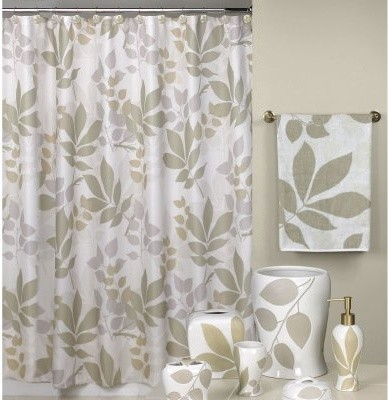 Shadow Leaves Shower Curtain Modern Shower Curtains By Hayneedle