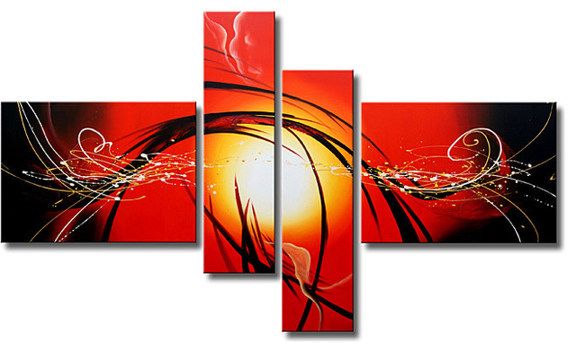 Hand-painted 'Raising Hope' 4-piece Gallery-wrapped Canvas