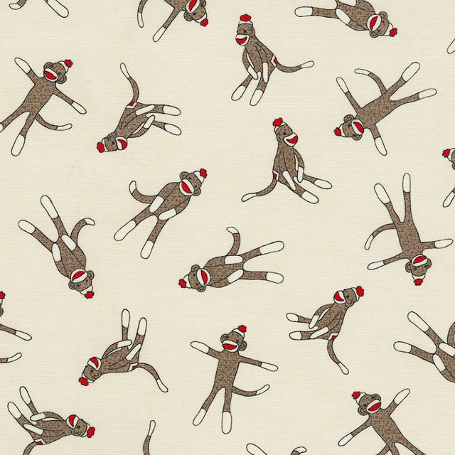 Sock Monkey Fabric traditional-fabric
