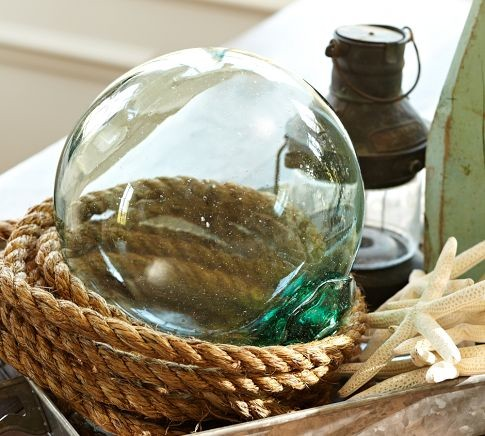 Recycled Glass Buoy tropical-home-decor