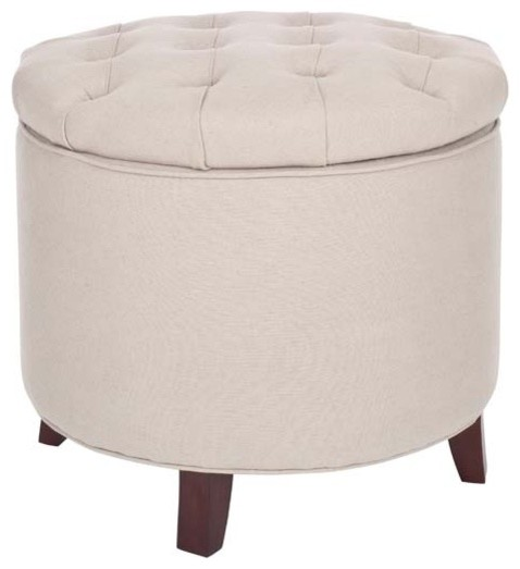 round storage ottoman tufted modern footstools and