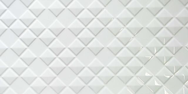 3d diamond pattern ceramic wall tile white glossy