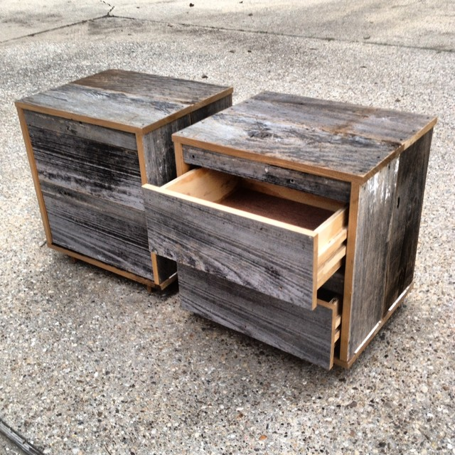 reclaimed wood nightstands 2