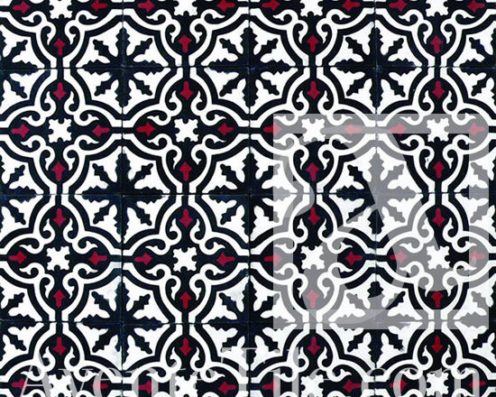 "Traditional Neiba Cement Tile 8"" x 8"" -"