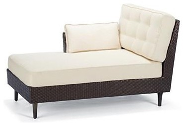 Tribeca Left-facing Outdoor Chaise Lounge with Cushions - Frontgate, Patio Furni traditional-indoor-chaise-lounge-chairs
