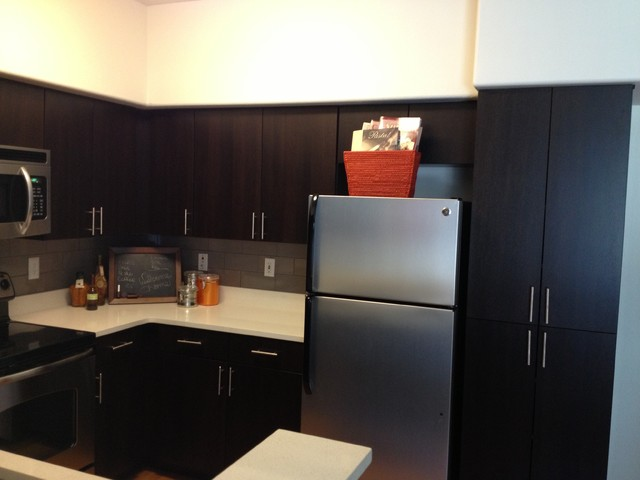 Kitchen cabinets and Hotel Room modern-kitchen