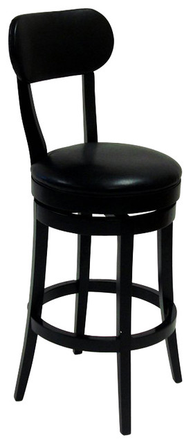 Armen Living Roxy 26 Inch Black Bicast Leather Swivel Barstool transitional-bar-stools-and-counter-stools