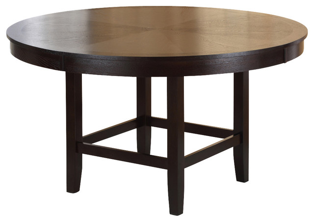 54 inch round dining table in dark chocolate traditional dining tables