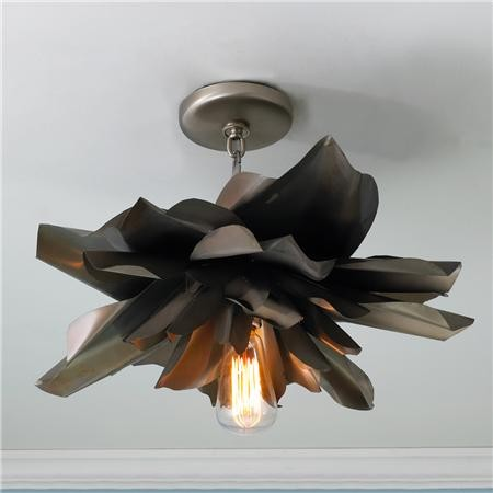 Vintage Magnolia Blossom Semi Flush Ceiling Light - Shades of Light eclectic-ceiling-lighting