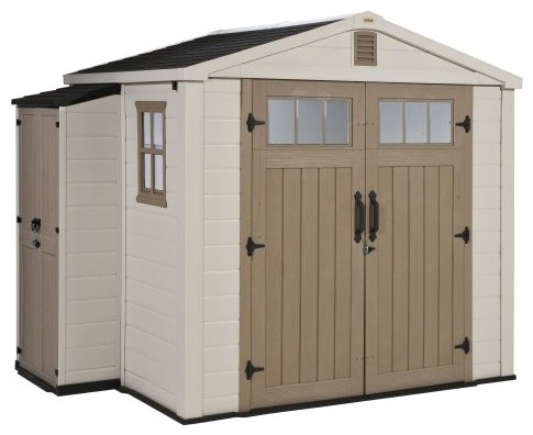 Keter Infinity 8 x 6 ft. Storage Shed with Side Cabinet ...