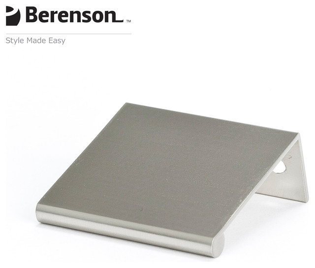 1052-4BPN-P Brushed Nickel Finger Pull by Berenson Hardware - Modern - Cabinet And Drawer Handle ...