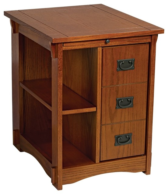 Mission Style Magazine Rack Side Table - Craftsman - Dining Tables