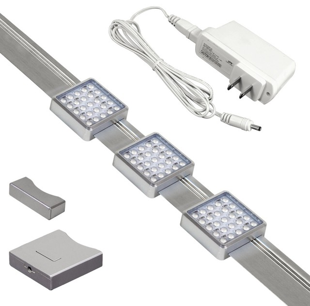 LED Orionis 3' Under Cabinet Track Light Kit - Modern - Kitchen Island Lighting - by Lamps Plus