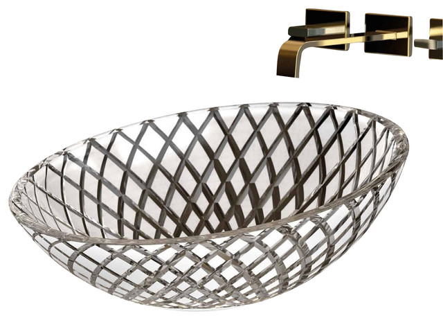 "Xeni T01 Crystal Sink 17.3"" contemporary-bathroom-sinks"