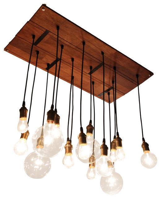 Reclaimed Hardwood Floor Chandy industrial-chandeliers