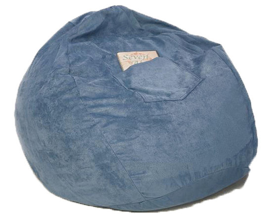 """Fun Furnishings - Fun Furnishings Micro Suede Small Bean Bag in Blue - Black micro Suede-teen chair by fun furnishings. Teen chair. This comfortable versatile sleeper chair is a big hit with teens and young teens. It is a sturdy yet light weight chair for their rooms and jus the thing for friends spending the night. Flip out the chair to make an instant sleeper 64"""" inches long. Put two or more chairs together side by side to make a sectional. The possibilities are endless! it should be noted that while this chair is large enough to seat many older teens the fold out bed is 64 inches ( 5� 4"""" ) long. Built-in durability. We've worked hard to make our furniture durable and help it retain its appearance. We use high-density foam to make the furniture hold up to the tough use it receives from kids. We include a layer of fiber on the seating surfaces to keep the fabric tight much longer."""