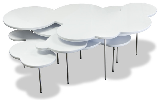 Clouds White Coffee Table Set Modern Coffee Table Sets