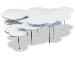 Clouds White Coffee Table Set modern-coffee-tables