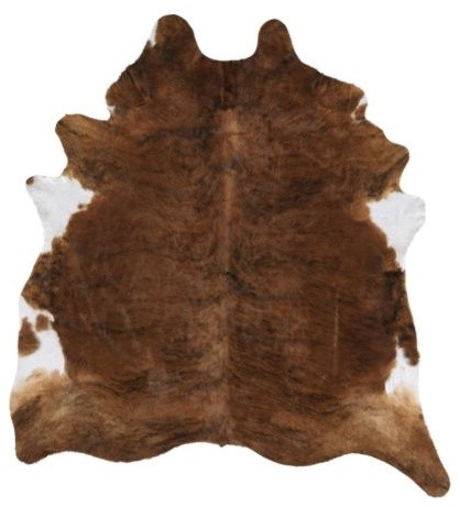 Koldby Cowhide, Brown/White traditional-rugs
