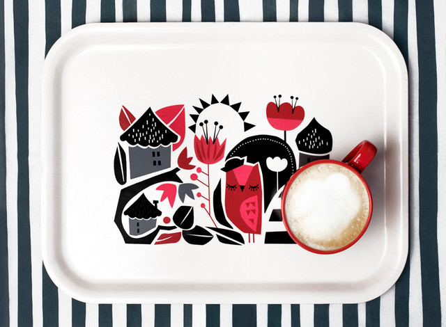 Darling Clementine Owl Tray modern-platters