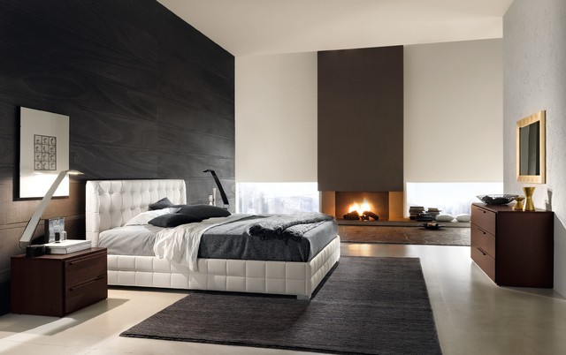 Chantal bed from £944 in Eco Leather contemporary bedroom