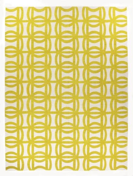 Sellarsbrook Yellow by Suzanne Sharp contemporary rugs