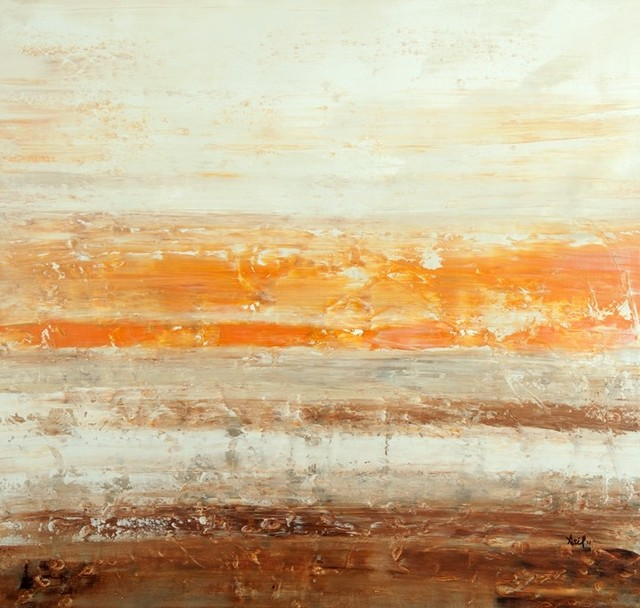 """Sahara Taupe - Geohorizon Series"" Artwork contemporary-paintings"